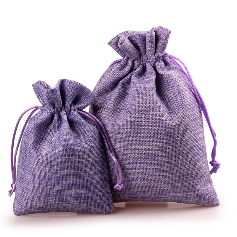 10pcs Linen Storage Pouch For Herb Lavender Sachet Bag Gift Packaging Bags Drawstring Closure In Wring Supplies From Home Garden On