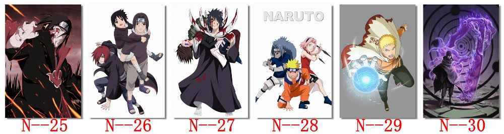 Naruto Anime Poster Print Wall Watercolor Art Shippuuden Anime Poster Gift n19