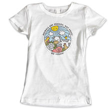 VEGAN ANIMAL FUNNY HUMOUR VEGETARIAN GIRLS WOMANS KIDS HEN DO T Shirt  New Shirts Funny Tops Tee