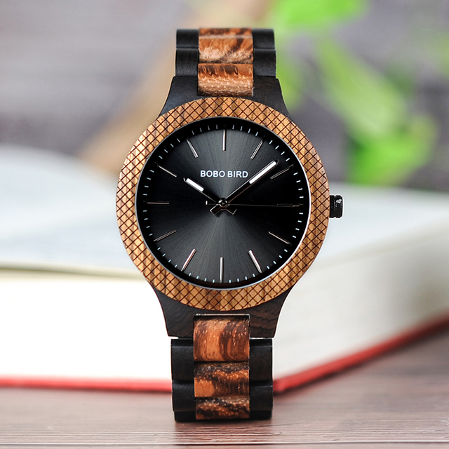 Men's Mechanical Wooden Watch