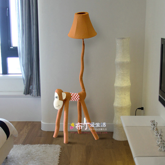 In For 40Off Caton 21 Lamps Lightsamp; Room Decoration Us85 Floor Lamp Bedroom From Kids De Living lamparas Cloth Handmade Pie Lighting Monkey rxBedCo