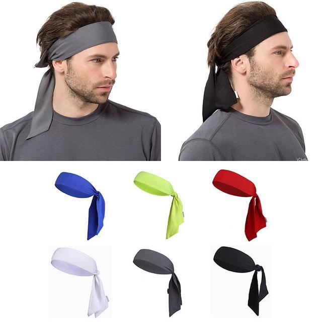 comment acheter officiel profiter du prix de liquidation Unisexe solide sueur bande femelle multicolore chapeaux hommes mode courir  Tennis bandeau pour Fitness mâle cheveux bande