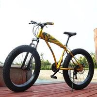 26 Inch Snow Bike 21 24 7 Speed Two Disc Brake 4 0 Tires Beach Mountain