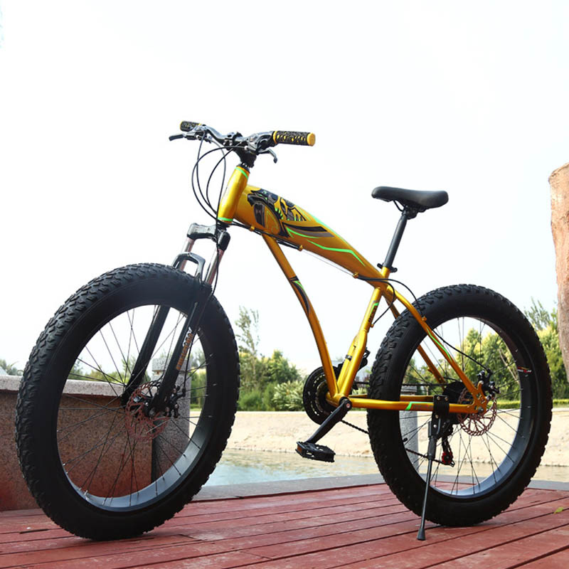 24 26 pouces vélo de neige frein à deux disques 4.0 pneus VTT de plage vélo de route Bicicleta cadre en Fiber de carbone