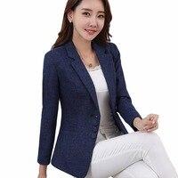 Plus Size 5XL Elegant Business Lady Jacket New 2017 Autumn Women Full Sleeve Work Blazer Female