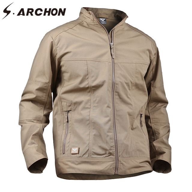 6c8e14af4a S.ARCHON Brand Clothing Military Tactical Jackets Men Casual Cotton  Windbreaker Army Jacket Coat Men Autumn Waterproof Jacket 3X