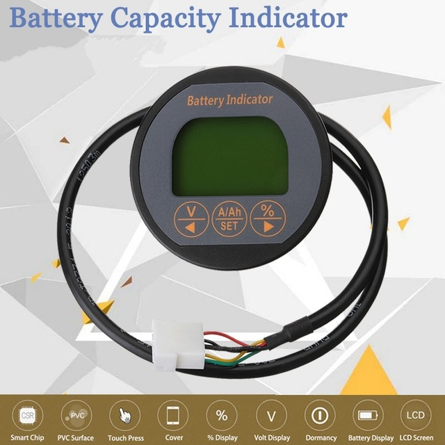 New 50A 80V Battery Current Volt Meter Lithium LCD Digital Display Battery Capacity Tester Indicator Monitor With Night Vision rl bi011 battery gauge battery agm gel volt meter battery indicator with hour meter for motorcycle atv tractor cleaning machine