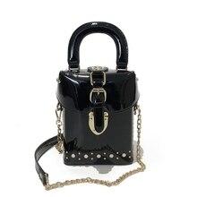 78be1d5af5 2019 Célèbre marque Diamant boîte sacs à main mini Cube Marque d'origine  conception sac à bandoulière pour les femmes sacs messe.