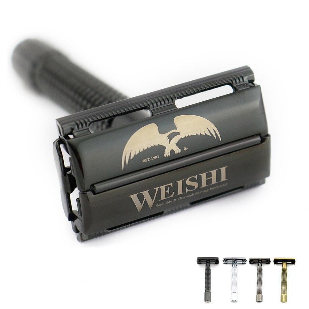 цена WEISHI butterfly safety razor High quality shaving razor Metal 9306-F Silvery 9306-C Gun color 9306-I Bronze PVD Black NEW