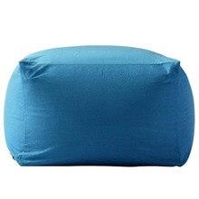 home decoration lazy sofa cover for living room hot sale plain Canvas light blue Cubierta de la bolsa de frijoles
