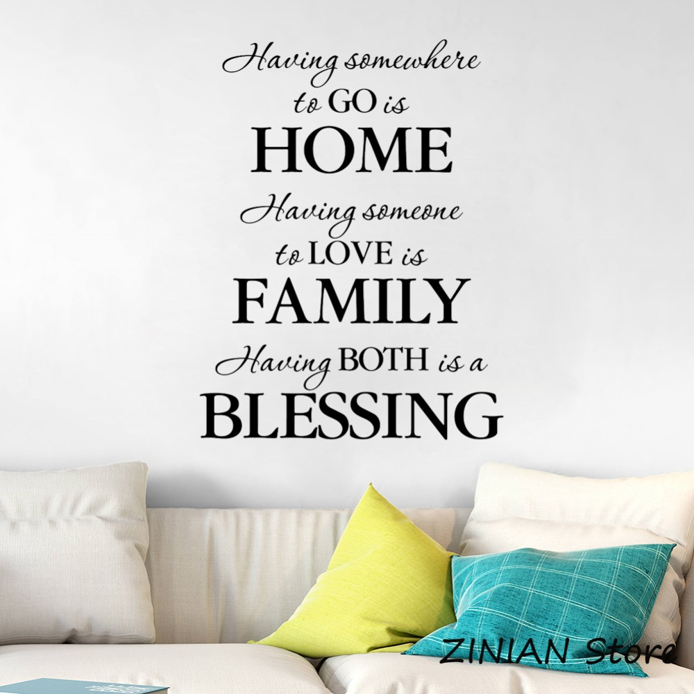 Home Quote Wall Stickers Home Decor Living Room Vinyl Wall ...