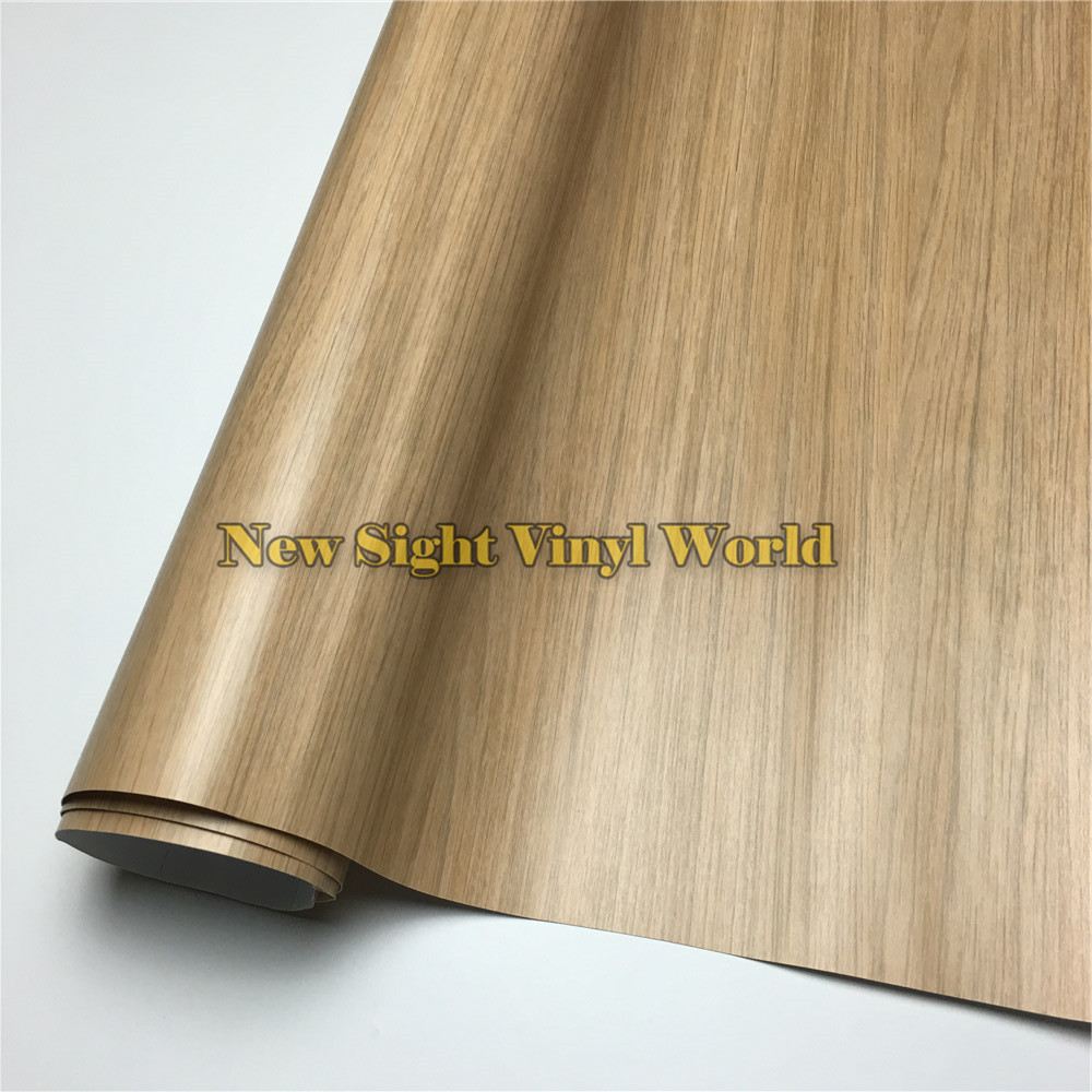 Pvc Wood Furniture ~ Oak wood vinyl film adhesive backed sheet for wall