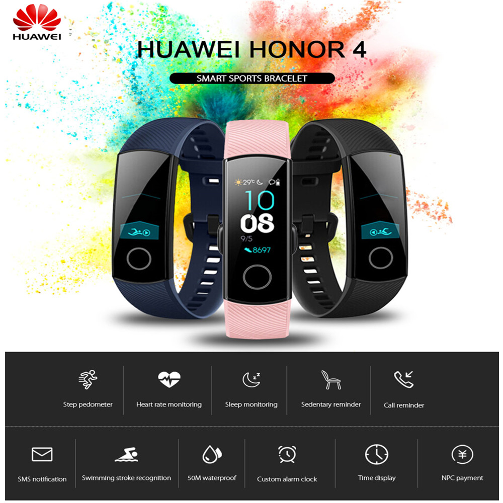 D'origine HUAWEI Honor 4 montre de Sport intelligente Écran Tactile 0.95