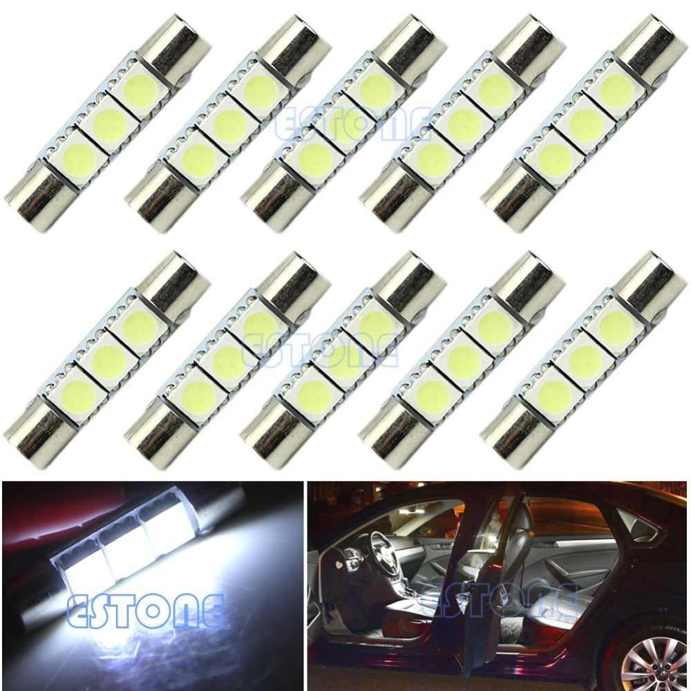 1 шт. T6 3-SMD 5050 Белый светодиодный лампы для автомобиля солнцезащитный козырек туалетное зеркало света взрывателя qyh
