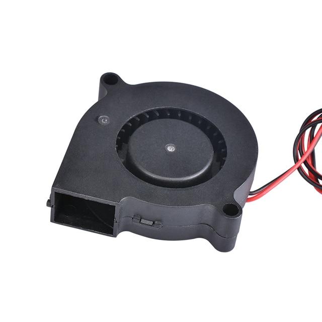 3D Printer Parts 5015 Blower Fan 12V 24V 0.1A Turbo cooling fan 5cm 50x50x15mm 5015/4010/3010 5V Black Plastic Fans For Extruder 2