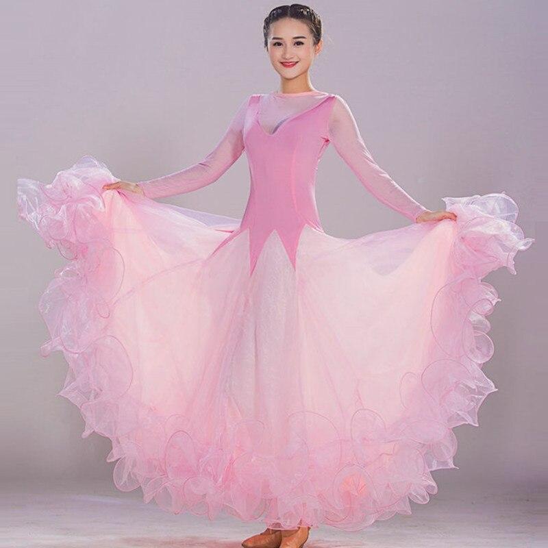 7 Colores Azul vals rumba estándar smooth Vestidos de danza estándar ...