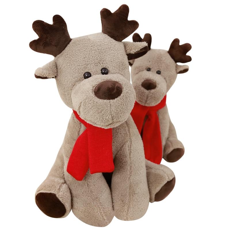 Karácsonyi rénszarvas plüss játékok kreatív rajzfilm párna - Babák és puha játékok