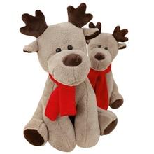 क्रिसमस रेनडियर आलीशान खिलौने रचनात्मक कार्टून तकिया एनीम खिलौना बच्चे बच्चे नींद गुड़िया जन्मदिन / क्रिसमस उपहार सोते हैं