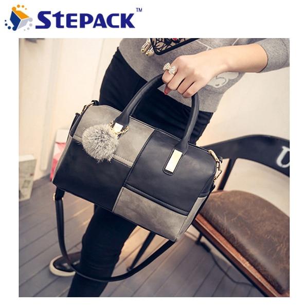 Fashion Handbag Big Size Leather Ladies Bag Big Capacity Furball Detachable Bags Temperament Shoulder Bag Women Crossbody Bag