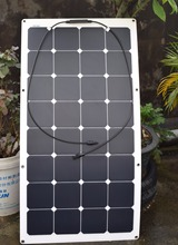 2PCS 100W Solarparts Frosted Surface flexible solar panel solar module for RV Yacht Boat Camping Car