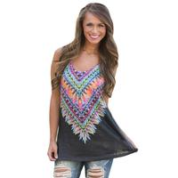 Women S Vest Twilight Kaleidoscope Sleeveless T Shirt
