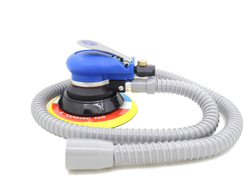 Wholesale 6 Inches air Sander with Vacuum 150mm Pneumatic Sander 6 Air Sanding Machine Pneumatic Tools 313D swingable pneumatic eccentric grinding machine 125mm pneumatic sander 5 inch disc type pneumatic polishing machine
