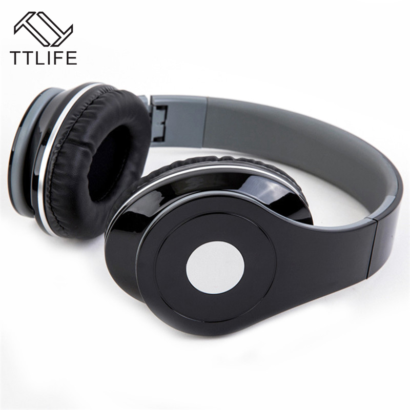 TTLIFE Brand Music Wired Headsets Stereo Powerfu Headband Headphones Super Bass Headphone Volume Control With Mic For Computer