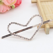 Hot sale New Arrival 2017 Sparkling Imitated Diamond Cupid Of Love Hairpin Side-Knotted Clip Hairpin Plate Love