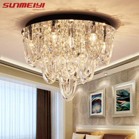 Luxury LED Crystal Ceiling Lights Crystal Hanging Design Ceiling Lighting For Kitchen Bedroom Hall lamparas infantiles techo|Ceiling Lights|   -