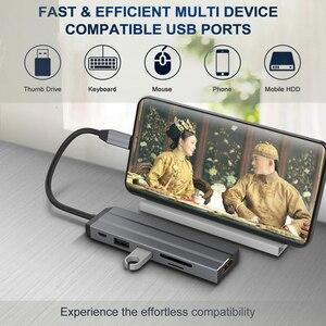 Image 4 - AIXXCO USB HUB USB C để HDMI SD/TF đối với MacBook Samsung Galaxy S10 Huawei Mate 20 P20 Pro loại C USB 3.0 HUB
