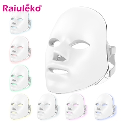 New Ultralight Version 7 Colors Photon LED Facial Mask Skin Rejuvenation Anti Acne Wrinkle Beauty Treatment Salon Home Use