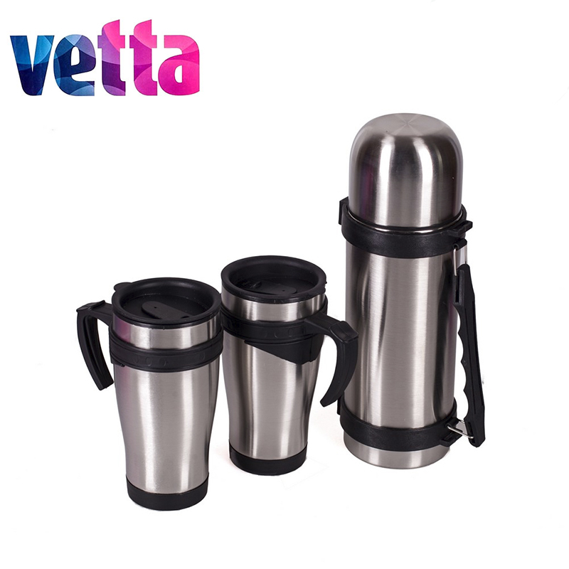 KIT BAG VETTA (thermos 1L+2 thermos-mug 450ml) in a bag, thermos bottles, bait, hunting, recreation, fishing 841-587