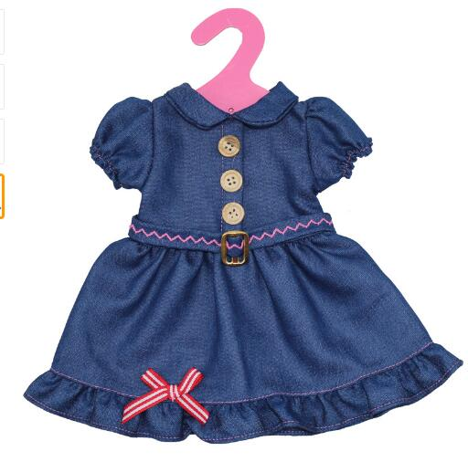 Hot sale denim skirt American Girl Doll Winter, 18-inch Doll Costume, Christmas Girl Gift(only sell clothes)