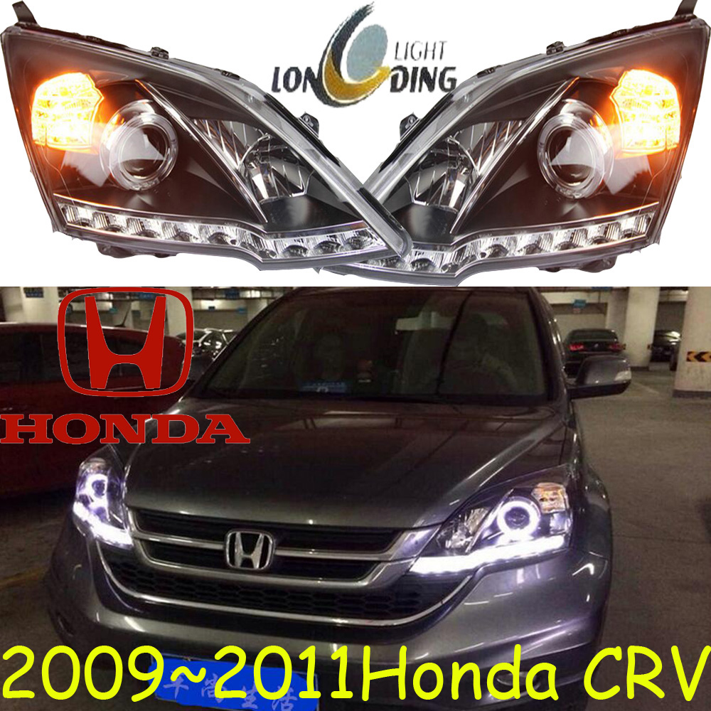 car-styling,Car headlight,2009~2016,Free ship! Car fog,chrome,LED,Car head lamp,XRV,XR-V,Crosstour,CRX,CR-Z,Element,EV Plus