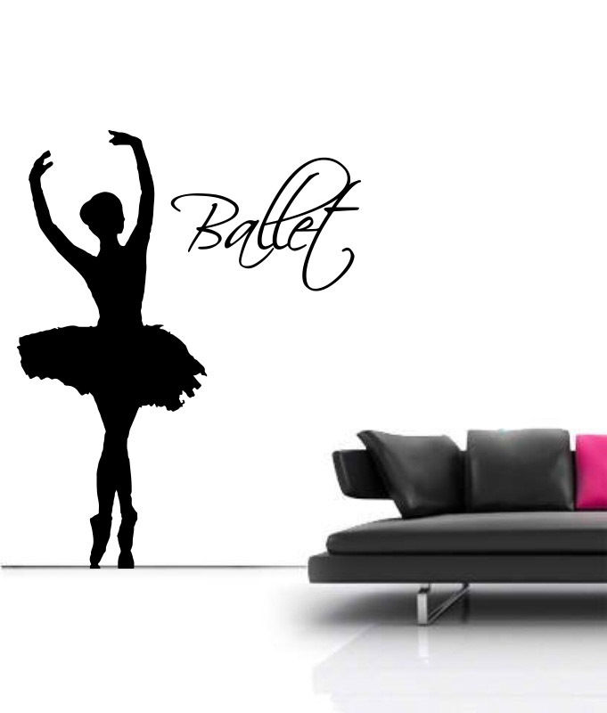 Aliexpress.com : Buy Dance Life Size 4.5ft Large Ballet Dancer SILHOUETTE  Wall Art Spin Decal Sticker Decal Vinyl Transfer Stencil Mural Room Decor  From ... Part 33