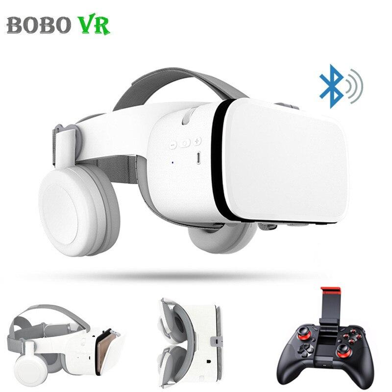 Óculos De Realidade Virtual Imersiva Bobovr Z6 3D Smartphones Google Caixa de Papelão VR Fone De Ouvido Bluetooth Sem Fio com o Controlador