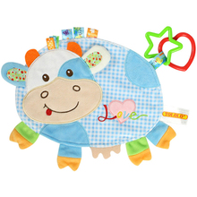 Premium Quality Appease Towel Toys, Baby Cartoon Cow Doll Comfort Towel Plush Toys Baby Calm Cloths Towel Soother and Teether Toys Health Baby Care