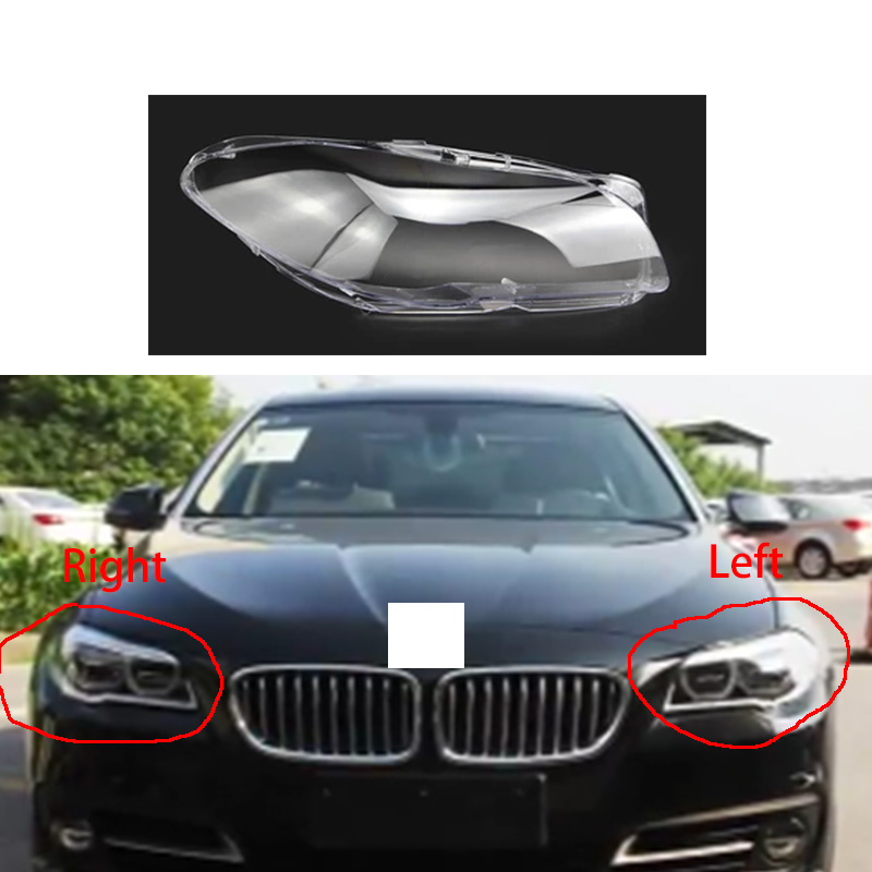 for 11 17 bmw F10 F18 5 series headlight transparent cover lighthouse lenses Front lighting lampshade