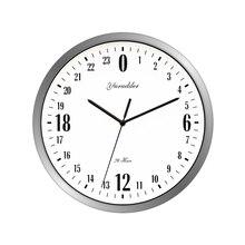 2018 Новые 24 часа циферблат дизайн 12 дюйм(ов) ов) металлический каркас современная мода декоративные круглые Настенные часы
