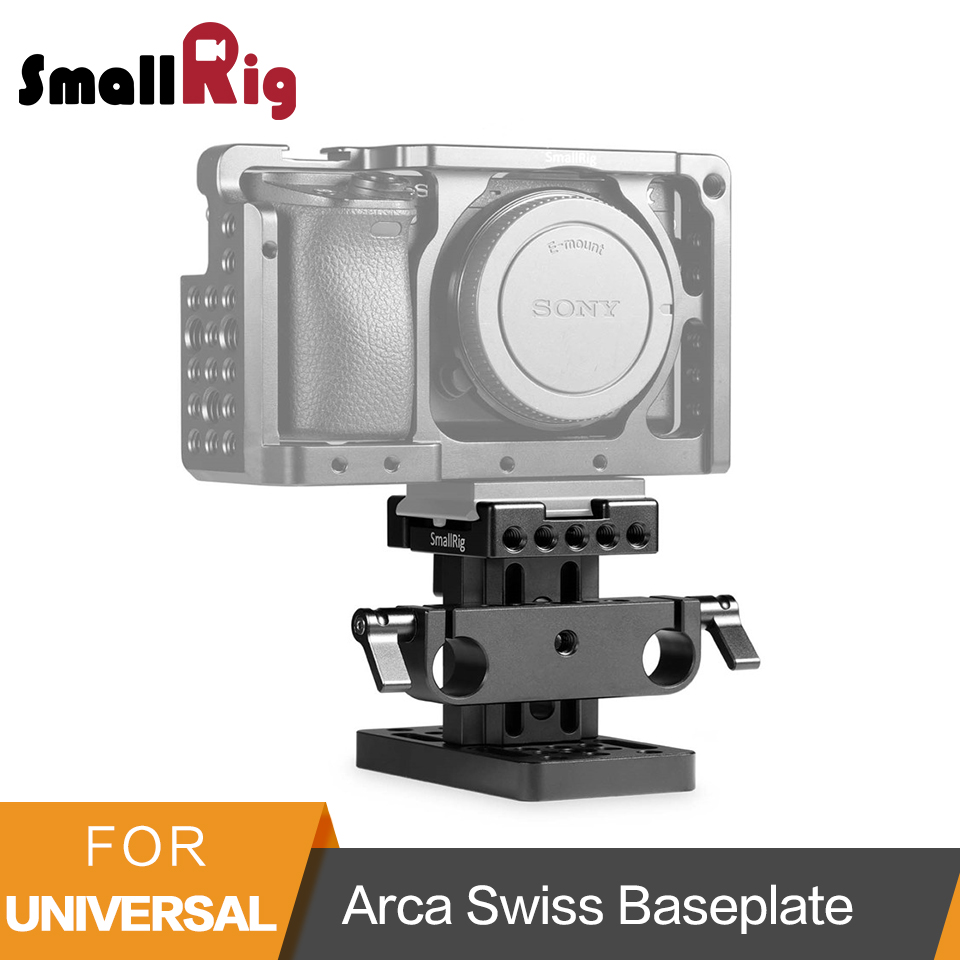 SmallRig 15mm Arca Swiss Style Rail Support System Baseplate for DSLR Camera Use - 1687