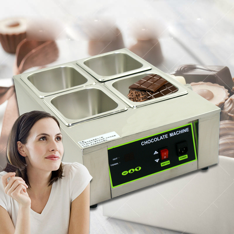 ITOP Digital Chocolate Melting Pot Machine, Stainless Steel Chocolate Fountain Machine 4 Lattices Kitchen Tools стоимость