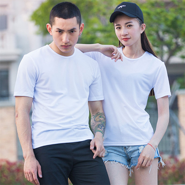 XS-5XL Fast Dry T shirts Men Women Short Male Female Fitness T-Shirts Summer Breathable Hiking Couple Sweat-shirts Man Plus Size 2
