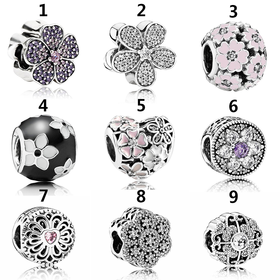 d47c46249 Buy pandora openwork enamel flower charm and get free shipping on  AliExpress.com