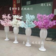 The new wedding props vase lead high-end Roman column cherry blossom road