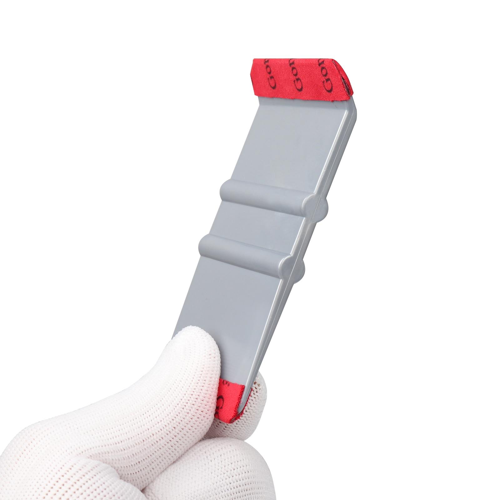 Foshio Carbon Fiber Vinyl Car Wrap Squeegee 135 Degree Scraper Foil Film Sticker Wrapping Stick Tool Window Tint Tool Clean Tool