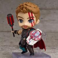 10cm Thor Action Fugure Toy Mode Q Vrersion Marvel's The Avengers Hero Model Ragnarok Thor 3 Figure Toys for Kid Children Gifts