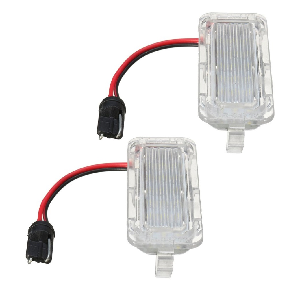 1 Pair of LED Rear Number License Plate Light For Ford For Fiesta For Focus For Kuga For Mondeo Number Plate Lamp Bright White auto vehicles white led number license plate light lamps for opel insignia sports tourer mokka for buick for cadillac for gmc