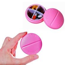 Mini Travel Pill Box Portable Tablet Medicine Storage Dispenser Holder Container Case Pill Box Splitters 4 Grid 8 Colors CCP082 недорого