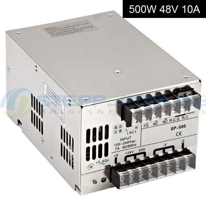 Moteur pas à pas 48 V alimentation à découpage 500 W 10A 90V-264VA entrée pour CNC Kits de routeur protection contre les courts-circuits 215*115*50mm