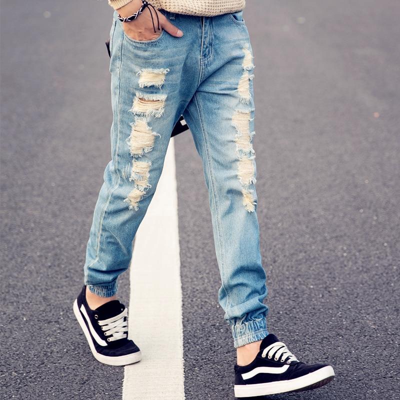 Mens Black Destroyed Jeans